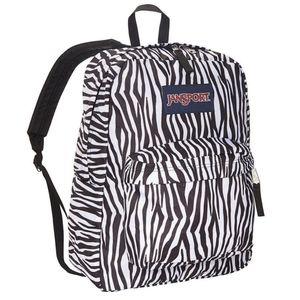 New Jansport Superbreak Zebra Backpack